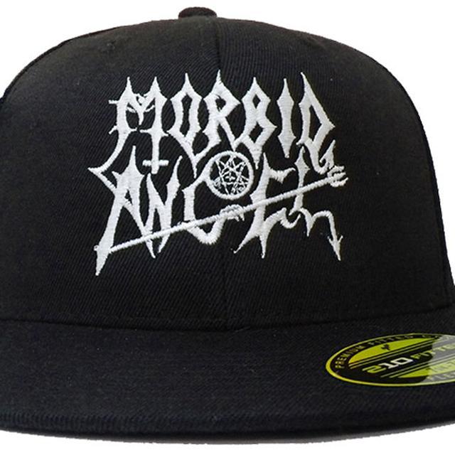Morbid Angel White Logo Fitted Baseball Hat