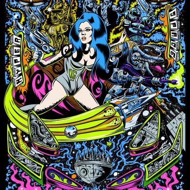 Dirty Donny Cosmic Bounty (retro sci-fi pinball) Poster