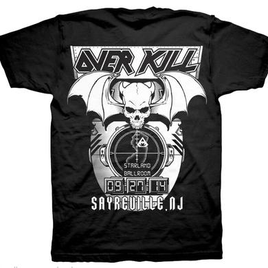 Overkill WDA Tour Tee - Hockey Mask Sayreville, NJ