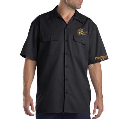 Opeth Embroidered Gold Logo Evolution Work Shirt