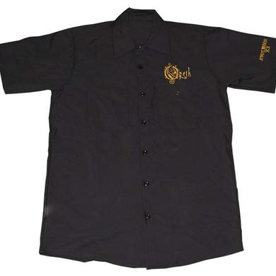 Opeth Embroidered Gold Logo Evolution Work Shirt