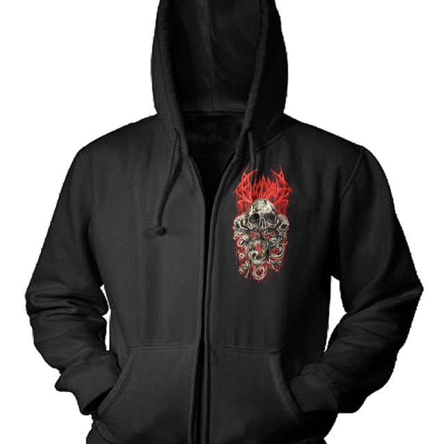 Bloodbath Pocket Skulls Logo Zip Hoodie