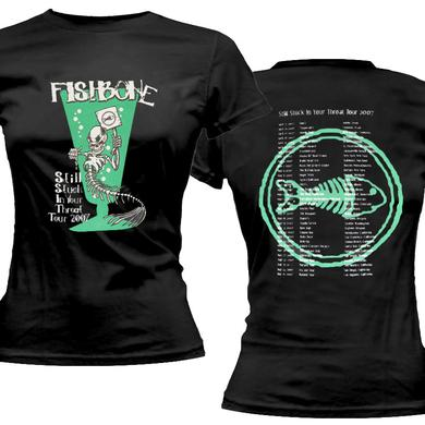 Fishbone Stuck in Throat 2007 Navy Ladies Tee