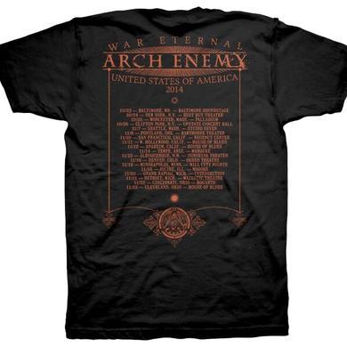 Arch Enemy Silent Screams 2014 Tour Dates T-Shirt