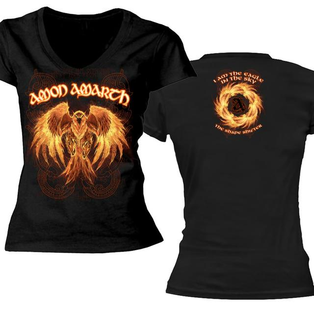Amon Amarth Burning Eagle Ladies V-Neck