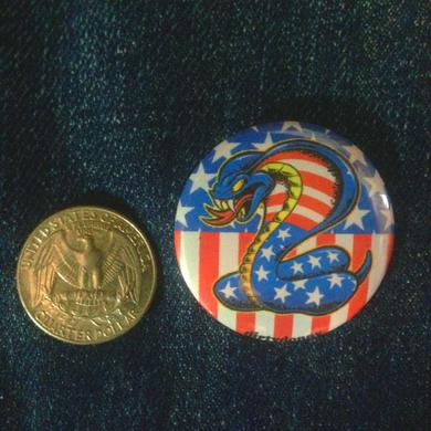 Dirty Donny American Flag Cobra 1.5in Button