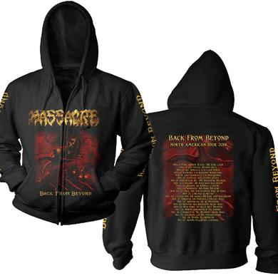 Massacre Back From Beyond - 2014 Tour Dates Zip Hoodie
