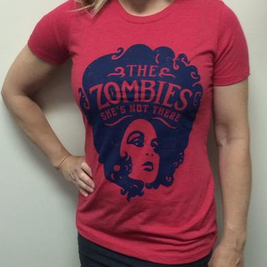 The Zombies Shes Not There Red Ladies Tee