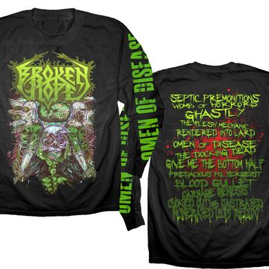 Broken Hope Omen Of Disease Longsleeve - Song Titles Back