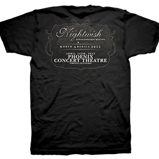 Nightwish Endless Forms Most Beautiful Tour Phoenix Concert T-Shirt