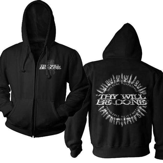 Thy Will Be Done Pocket Logo Teeth Zip Hoodie