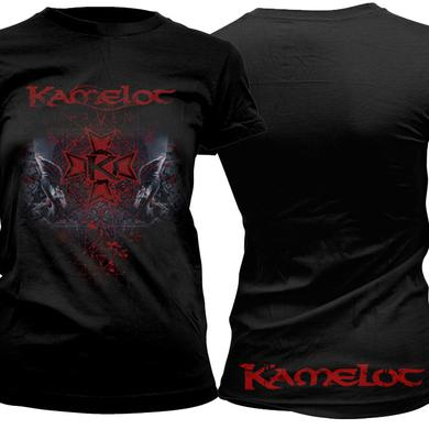 Kamelot Red Skull Logo Ladies Tee
