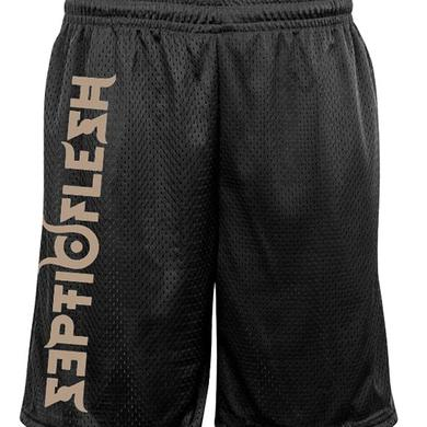 Septic Flesh Logo Mesh Gym Shorts