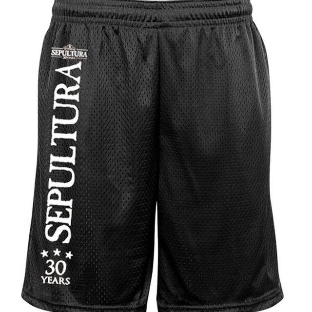 Sepultura 30 Years Logo Mesh Shorts