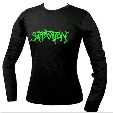 Suffocation Green Logo Ladies Longsleeve