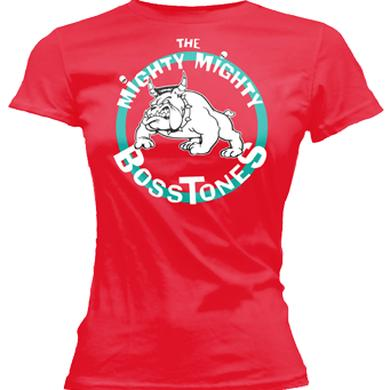 Mighty Mighty Bosstones Bulldog Circle Red Ladies Tee