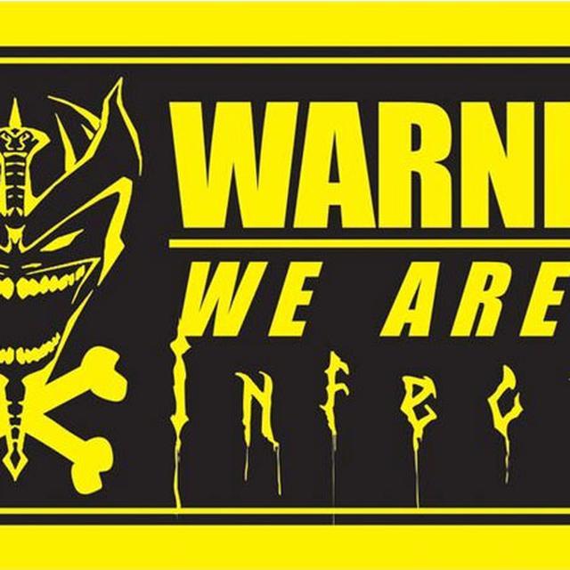 Iced Earth VIP Warning Sticker