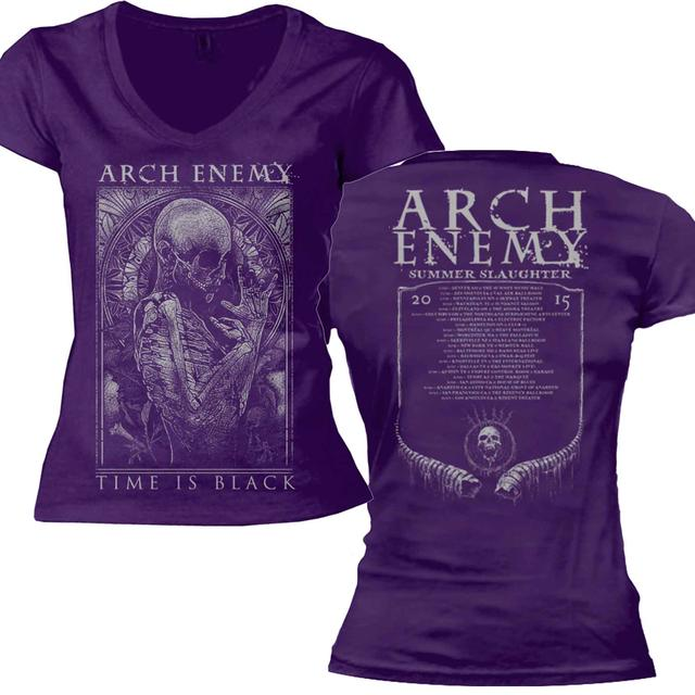 Arch Enemy Skull Ring Tour 2015 Purple Ladies Tee