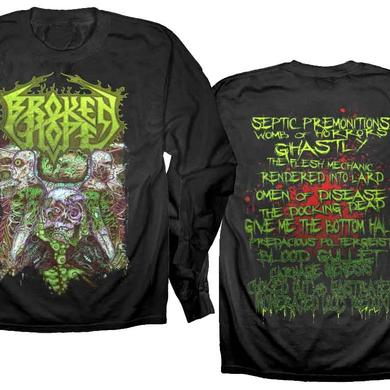 Broken Hope Omen Of Disease European Tour 2015 Longsleeve T-shirt