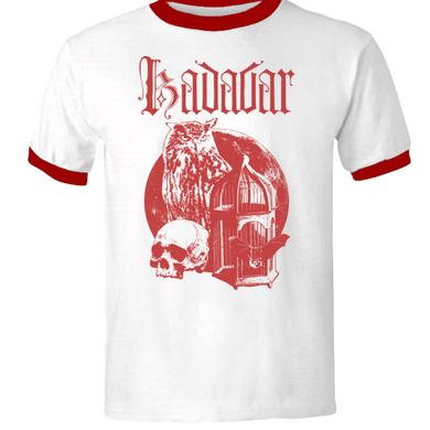 Kadavar Owl & Cage White and Red T-Shirt