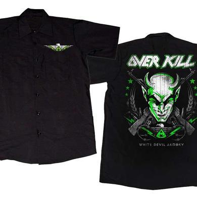 Overkill Embroidered White Devil Workshirt