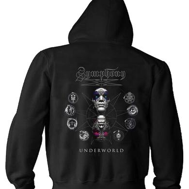 Symphony X Underworld Album Back Dates Zip Hoodie