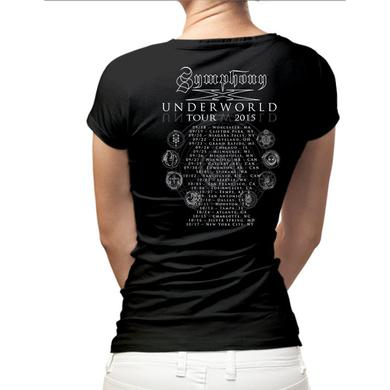 Symphony X Underworld Album Back Dates Ladies Tee