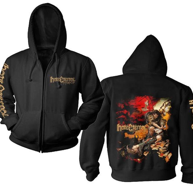 Hate Eternal Logo Infernus Album Cover Zip Hoodie