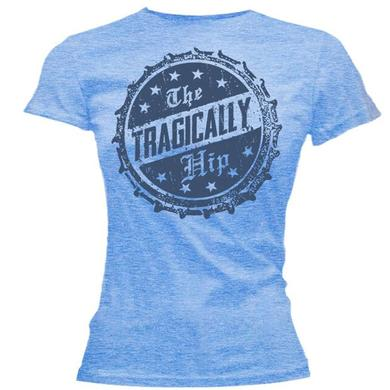 The Tragically Hip Bottle Cap Blue Ladies T-Shirt