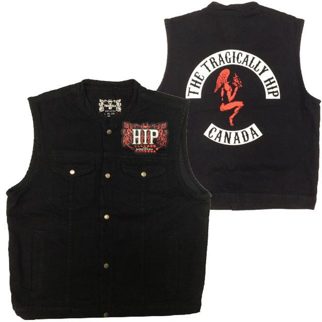 The Tragically Hip Black Denim Vest