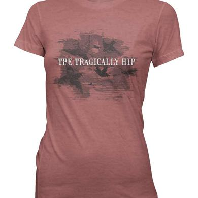 The Tragically Hip Ladies Heather Red Birds Formation T-Shirt