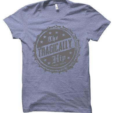 The Tragically Hip Bottle Cap Blue T-Shirt est. 1984