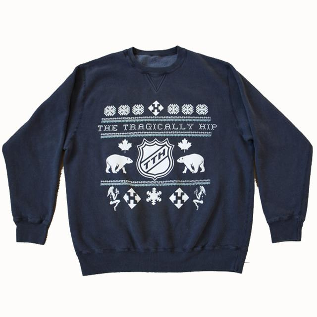 The Tragically Hip Navy Blue Not So Ugly Festive Sweater