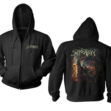 Suffocation Pocket Logo Pinnacle Zip Hoodie
