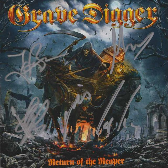 Grave Digger Return Of The Reaper Signed CD