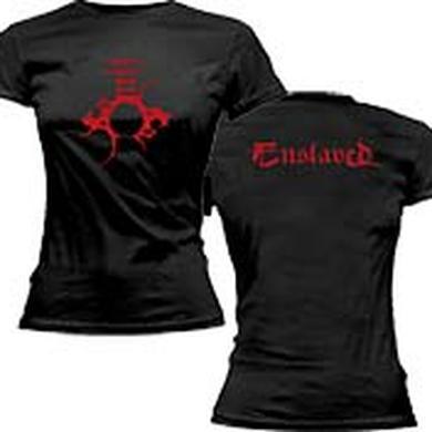 Enslaved Red Logo Ladies Tee