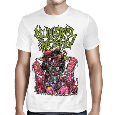 Municipal Waste Green Logo Rats T-Shirt