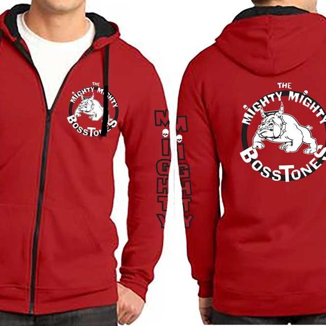 Mighty Mighty Bosstones Bulldog  Red Zip Hoodie
