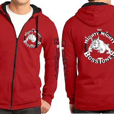 Mighty Mighty Bosstones Bulldog  Red Zip Hoodie