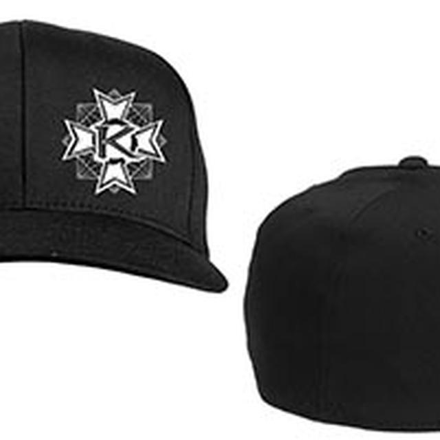 Kamelot Embroidered K Pendent Black Flex Fit Hat