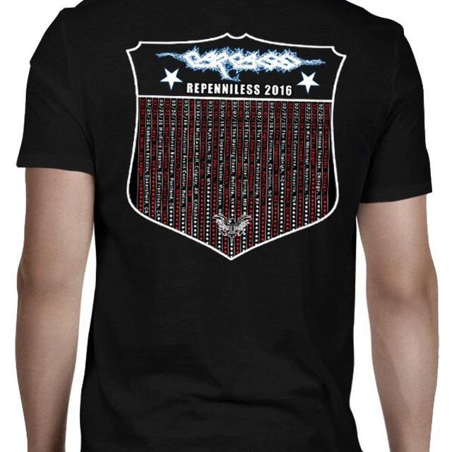 Carcass Eagle White Logo 2016 Tour Dates T-Shirt