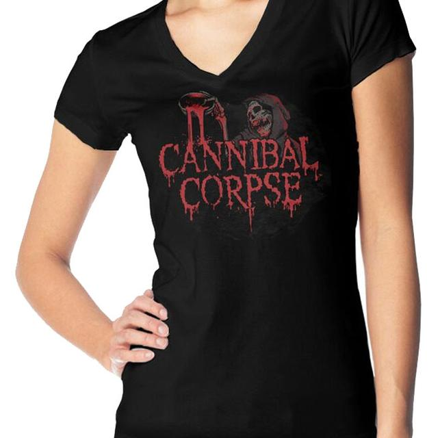 Cannibal Corpse Blood Ghoul Ladies V-Neck