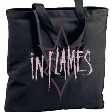 In Flames Jester Outline Tote Bag