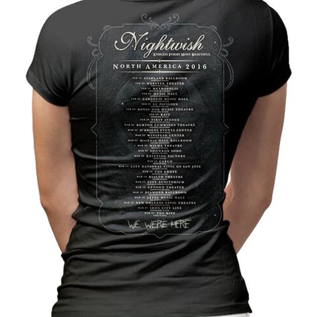 Nightwish Owl 2016 Tour Dates Ladies T-Shirt