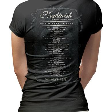 Nightwish Owl 2016 Tour Dates Ladies T-Shirt
