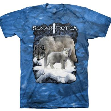 Sonata Arctica Wolf Blue Tie Dye T-Shirt