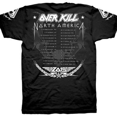 Overkill Sergeant 2015 Tour Dates T-Shirt