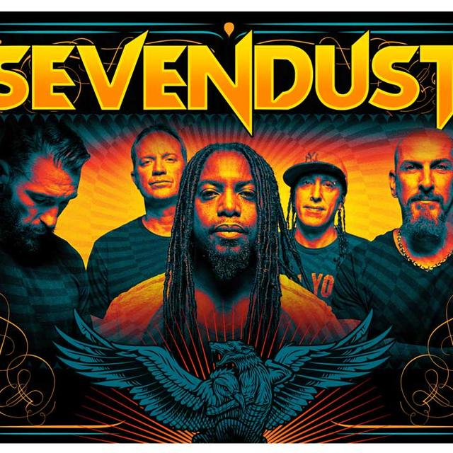 Sevendust Band Photo Textile Flag