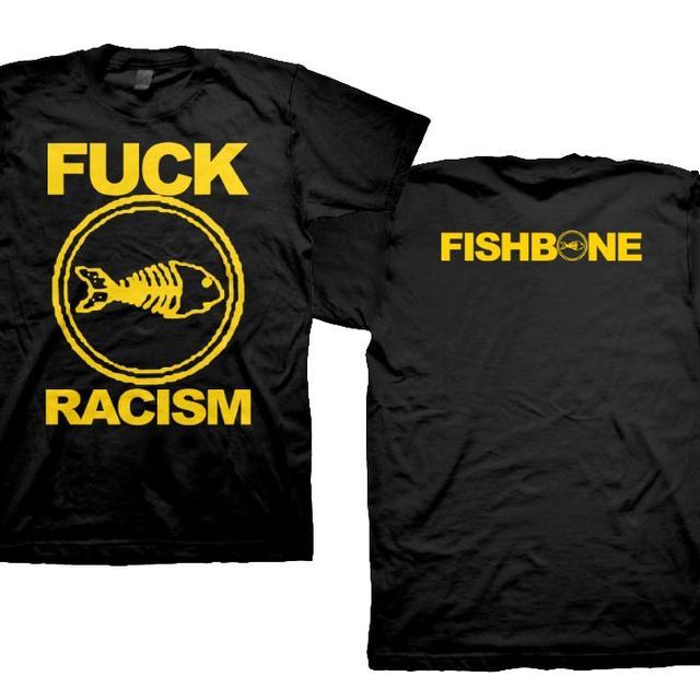 Fishbone Fuck Racism (Yellow on Black) T-Shirt