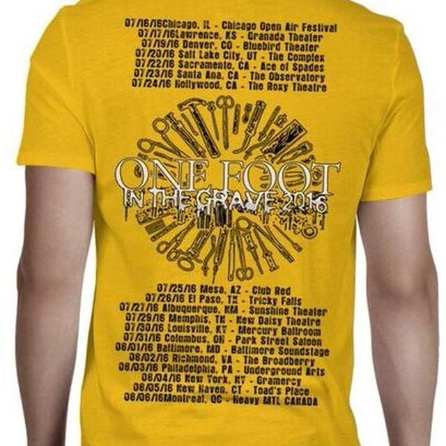 Carcass Head One Foot 2016 Tour Dates T-Shirt
